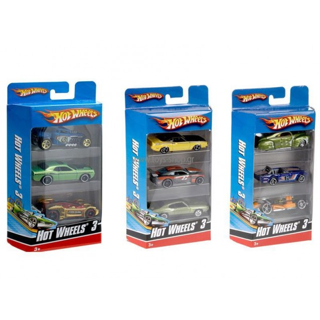 HOT WHEELS - CARS SET OF 3 (RANDOM) (K5904)