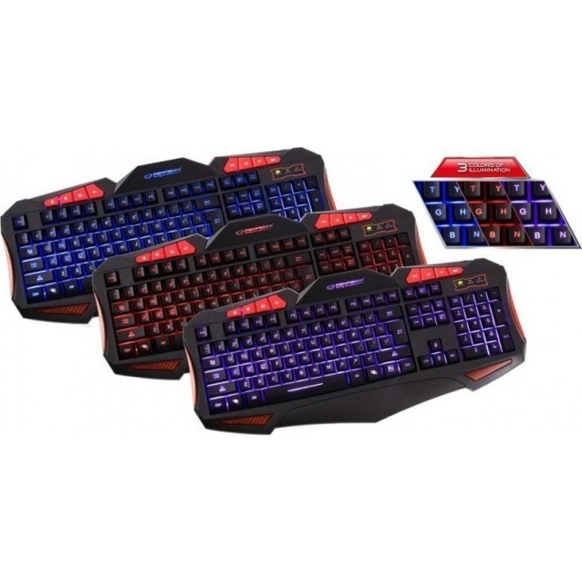 ESPERANZA EGK3000 SHELTER WIRED USB GAMING KEYBOARD WITH MOUSE SET