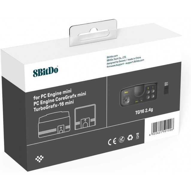 8Bitdo TG16 2.4G Wireless Gamepad for PC Engine Mini & Nintendo Switch (TG16 Edition)